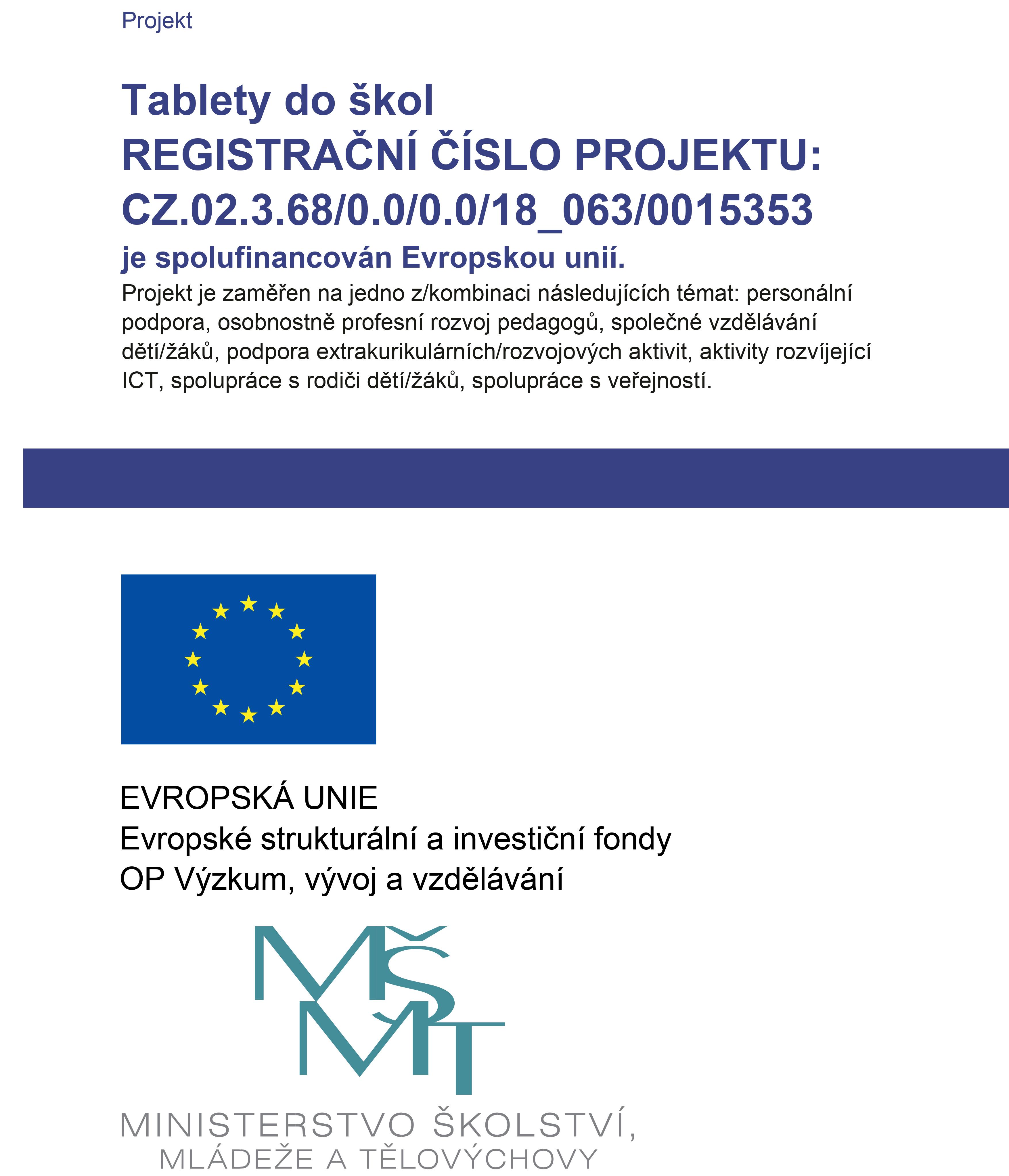 ZŠ a MŠ Radonice – Publicita projektu – šablony II